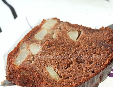 Cake poire agave chocolat caramel1
