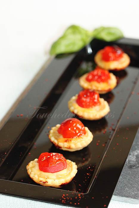 Tartelette tomate oignon mozzarella