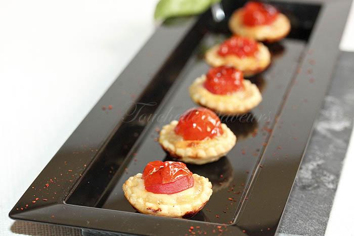 Tartelette tomate oignon mozzarella1