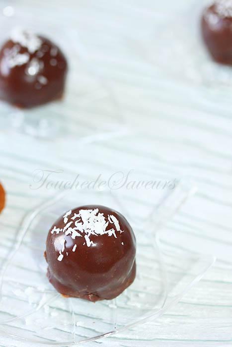 Bouchées abricot coco