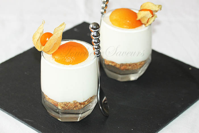 Cheesecake abricot en verrine