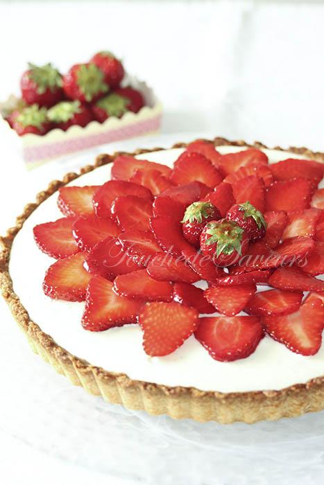 Tarte fraises mousse chocolat blanc2