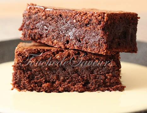 Brownie fondant amande noisette