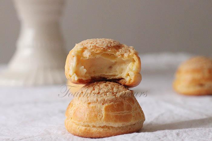 Choux craquelins crème patissière
