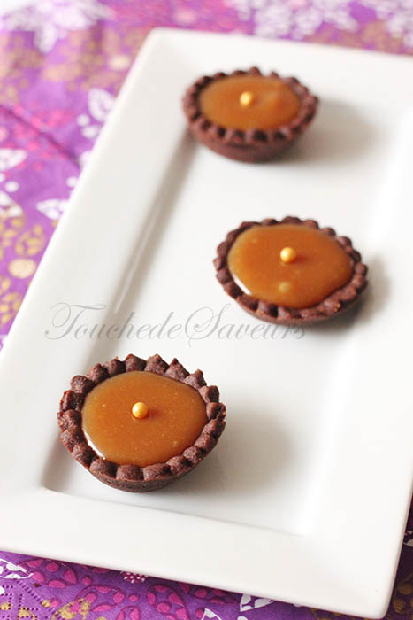 Mini tartelette cacao caramel beurre salé