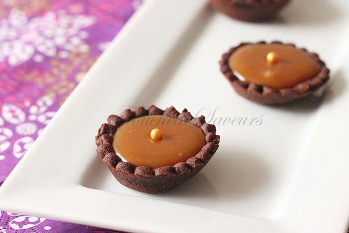 Mini tartelette cacao caramel beurre salé1