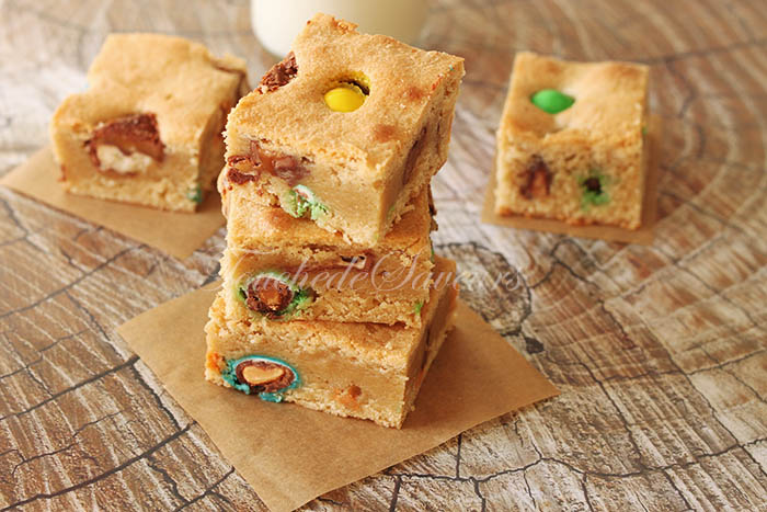 Blondies chocolat m&m's