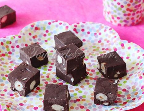 Fudges chocolat amande noisette