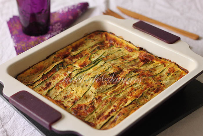 Parmigiana courgette mozzarella