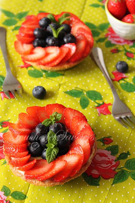 Tartelette fraise myrtille beurre d'amande