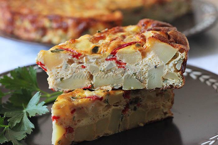 Tortilla pomme de terre poivron mozzarella1