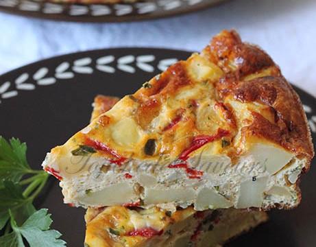 Tortilla pomme de terre poivron mozzarella2