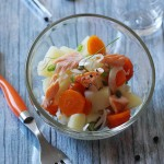 salade pomme de terre carotte saumon
