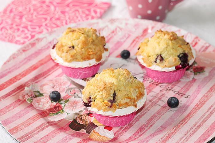 Muffins crumble citron myrtille