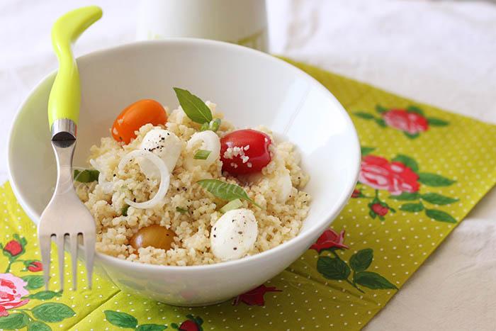Salade boulghour tomate mozzarella
