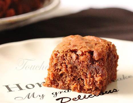 Brownie chocolat caramel
