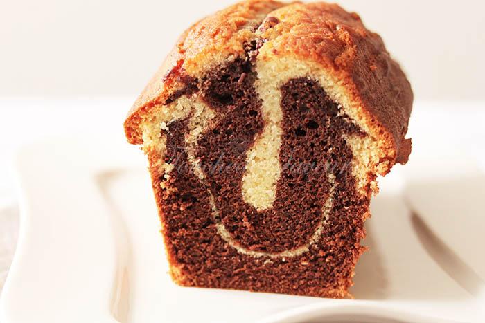Cake marbré chocolat moelleux