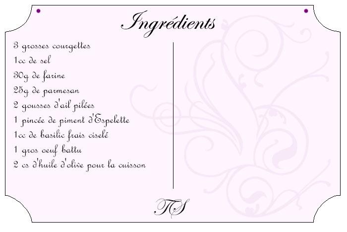 Galettes de courgette au parmesan