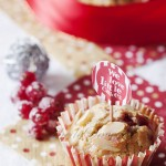 Muffins chocolat blanc framboises groseilles