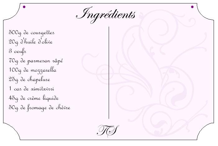 Parmigiana bianca courgette mozzarella