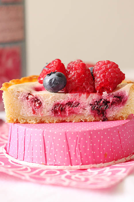 Tarte cheesecake fruits rouges2