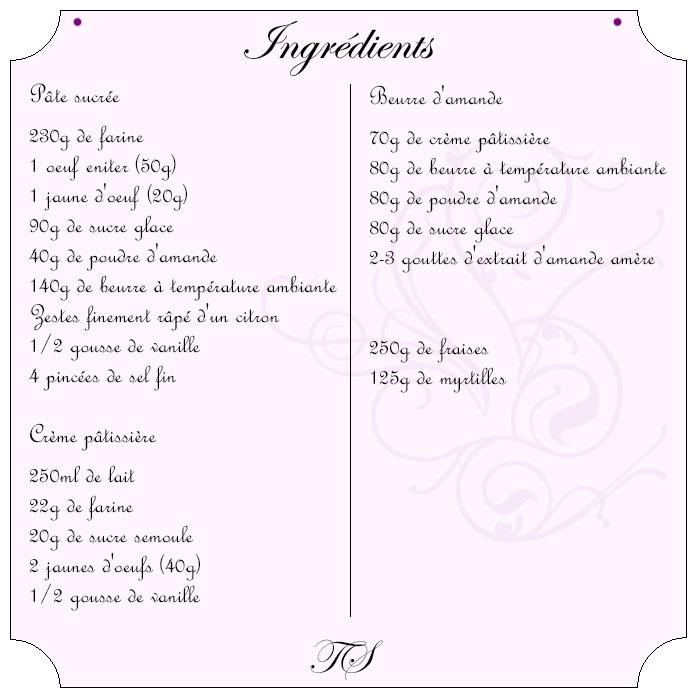 Tartelettes fraise beurre d'amande
