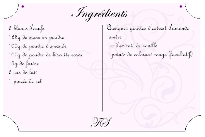 Amarettis aux biscuits roses