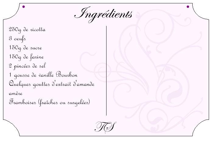 Bouchons ricotta framboises vanille