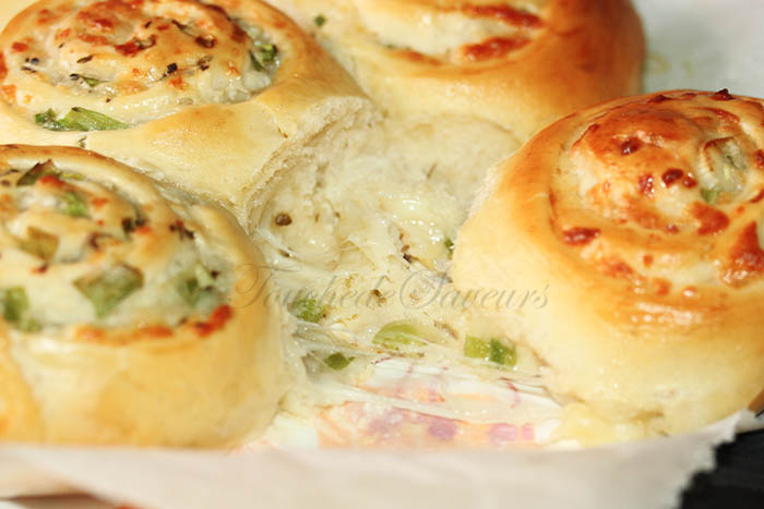 Bun's roulés oignons nouveaux mozzarella2