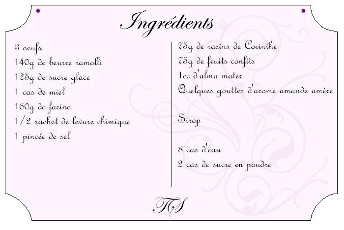 Cake aux fruits confits de Christophe Felder