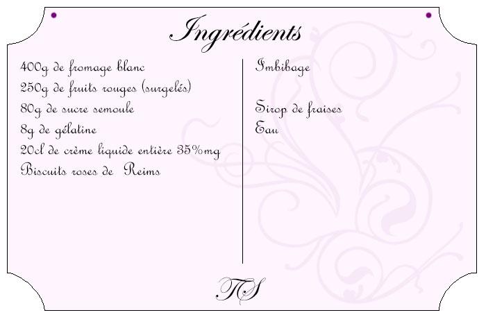 Charlotte aux fruits rouges et fromage blanc