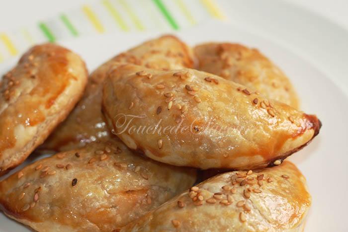 Chaussons feuilletés poulet poivron1