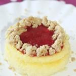 Cheesecake crumble et coulis de fraises1