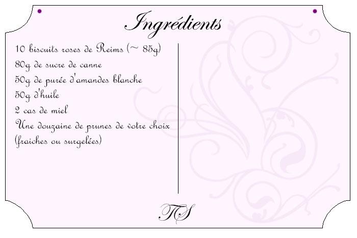 Crumble de prunes & biscuits de Reims
