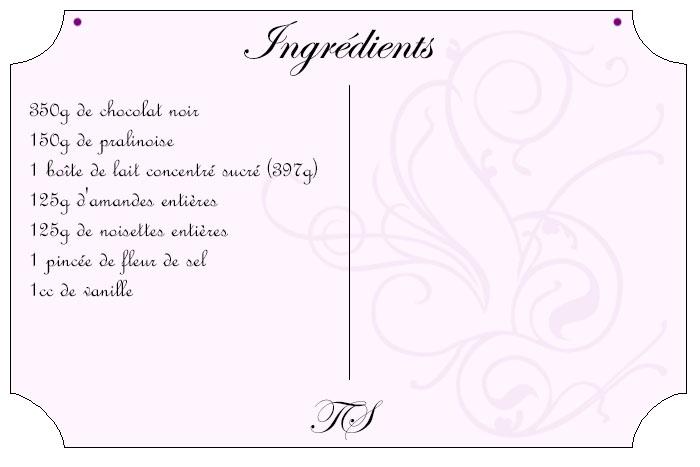 Fudge chocolat amande noisette