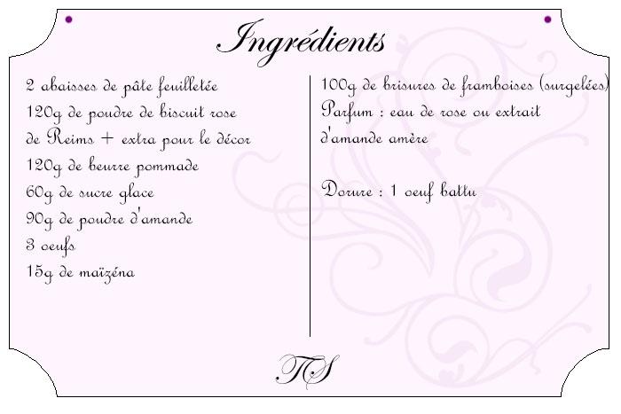 Galette au biscuit rose et framboises
