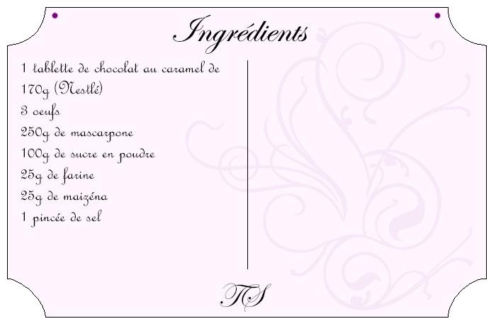 Gateau au chocolat au caramel et mascarpone