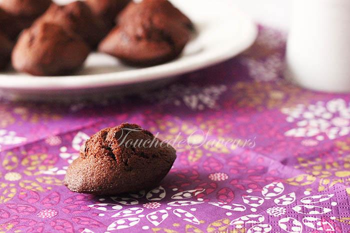 Mini madeleines chocolat miel1