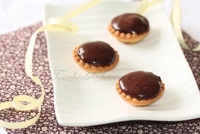 Mini tartelette poire crémeux chocolat