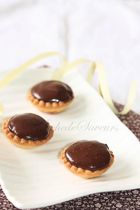 Mini tartelette poire crémeux chocolat1