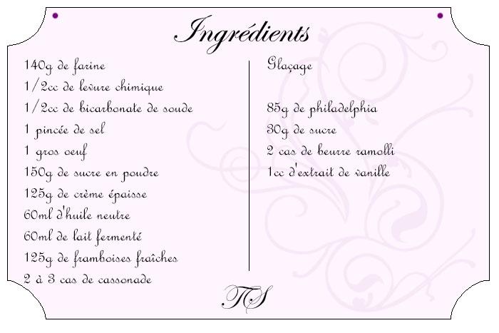Moelleux aux framboises {glaçage au philadelphia}