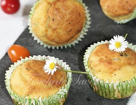 Muffins aux herbes coeur de fêta