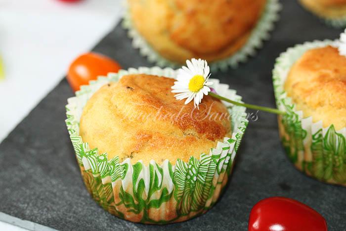 Muffins aux herbes coeur de fêta1