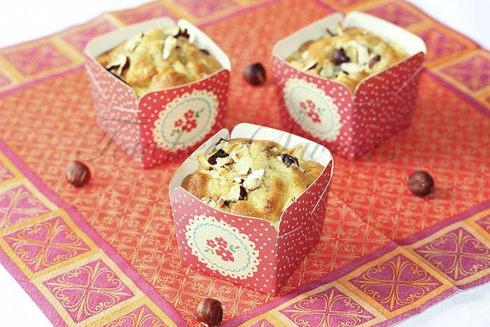 Muffins aux pommes et à l'huile de noisette