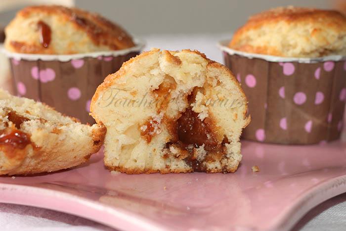 Muffins coeur caramel beurre salé