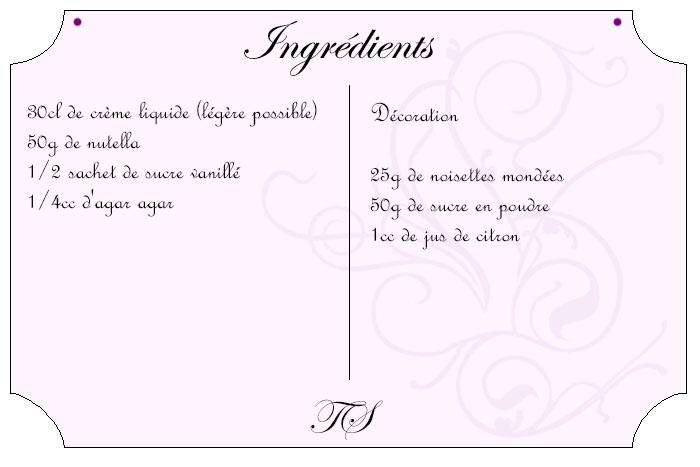 Pannacotta au nutella et noisettes caramélisées
