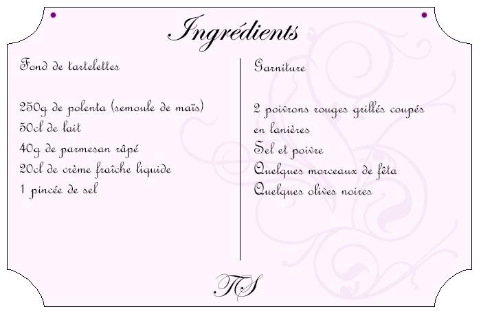 Polenta'tarte aux poivrons, olives et fêta