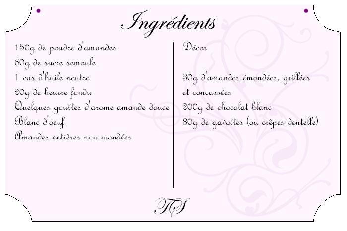 Rochers amandes, chocolat blanc et gavottes