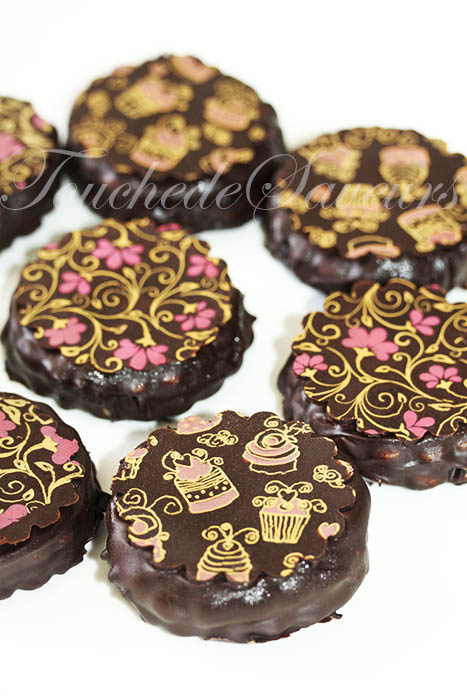 Sablés chocolatés fourrés
