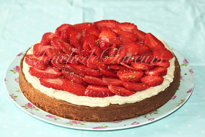 Tarte aux fraises sur sablé breton2
